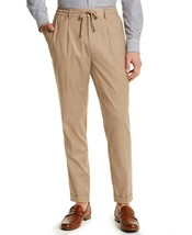 Tasso Elba Men's Classic-Fit Stretch Tropical Weight Dress Pants Sand-2XL - $24.99