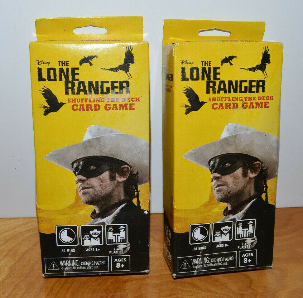 Primary image for THE LONE RANGER SHUFFLING THE DECK CARD GAME LOT DISNEY WIZKIDS NECA 2013