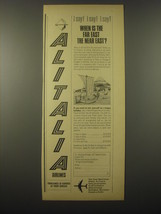 1965 Alitalia Airlines Ad - When is the far east the near east? - $14.99