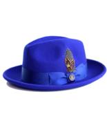New Bruno Capelo Australian Wool Dress Hat Fedora Royal Blue HK-108 - $49.99