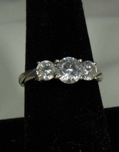Sterling & Round CZ Ring Size 8.5, Signed NF - $22.76
