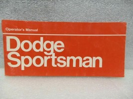 Dodge Sportsman Van VDOD300 1973 Owners Manual 16371 - $18.76
