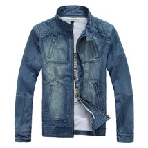 Jamickiki 2018 Spring and Autumn Fashion Zipper Stand Collar Casual Men's Cotton - $50.80