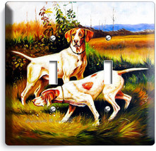Hunting Hound Dogs Double Light Switch Wall Plate Cover Room Hunter Cabin Decor - $13.99