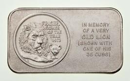 1973 Frasier The Lion Pioneer Excellent État Art Barre 1 ML Argent Barre... - $58.41