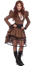 Forum Steampunk Vickie Complete Costume, Brown, One Size - $46.00