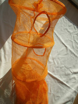 Hanging Space Saver Storage Bag Orange Mesh 6 Compartments - $14.99