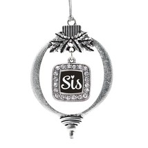 Inspired Silver Sis Classic Holiday Christmas Tree Ornament With Crystal Rhinest - $14.69