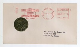 Burlington's 100th Anniversary 1849-1949 Cover w/ Burlington Railroad Li... - $9.99
