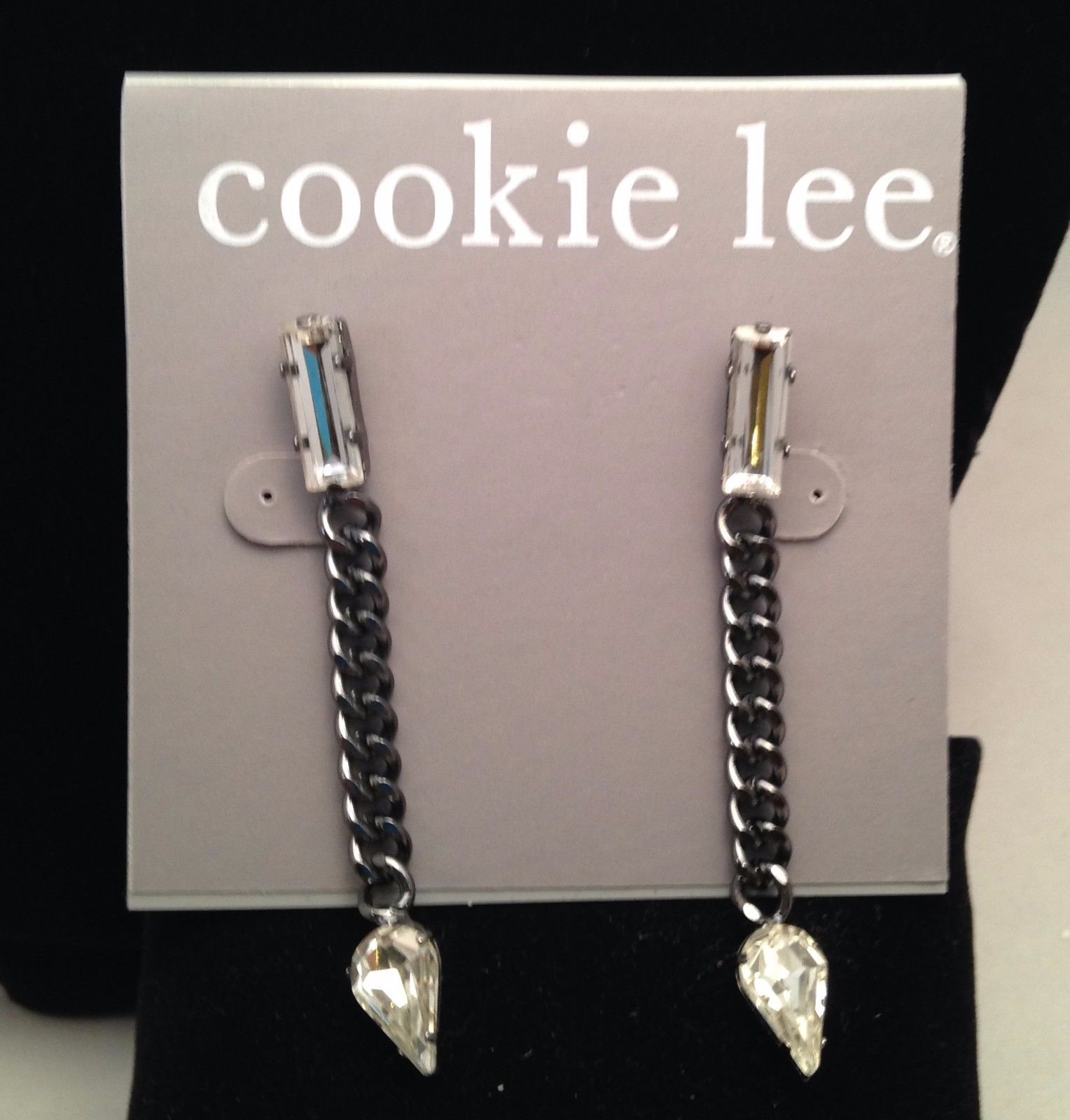 New Cookie Lee Genuine Crystal Necklace and Matching Earrings