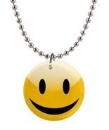 Smiley Face Novelity Button Necklace - $8.99
