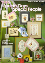 Leisure Arts 238 Special Days Special People Counted Cross Stitch 1982 - $1.97