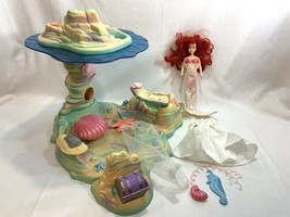 Vtg 1992 Disney The Little Mermaid Ariel's Undersea Hideaway Set Beautif... - $113.84