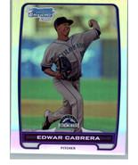2012 Bowman - Chrome Prospects - Refractor #BCP64  Edwar Cabrera #/500 - $0.98