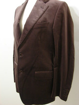 Salvatore Ferragamo Jacket Toffee Cocoa Brown Brushed Cupro Fitted Italy... - $179.99