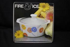 NOS Vintage Studio Nova Fire & Ice 2.5qt Casserole Poppy Promenade AA020 - $49.99