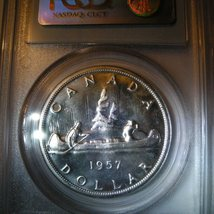 Canada Silver Dollar 1957 PCGS certified PL-66 - $250.00