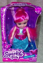 """Funville Sparkle Girlz Sparkle Tots 6""""H Girl Hot Pink Hair Doll New - $8.88"""