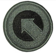 GENUINE US ARMY PATCH: FIRST SUPPORT COMMAND - EMBROIDERED ON ACU - PAIR - $16.81