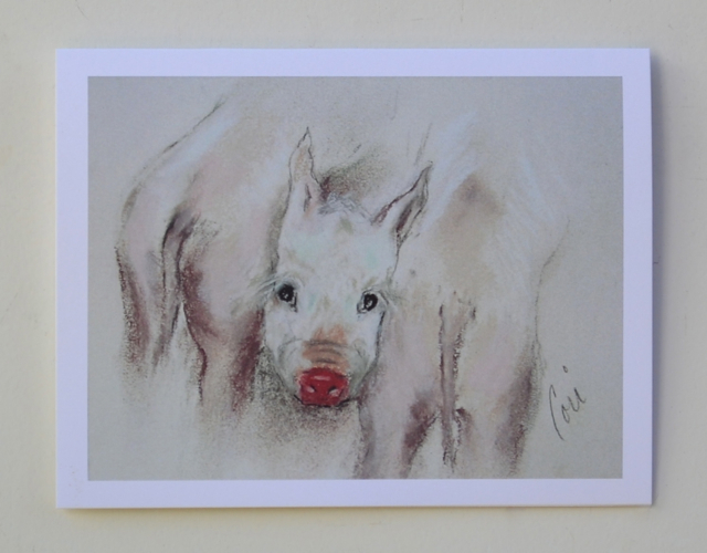 Primary image for Pig Art Animal Note Cards Solomon