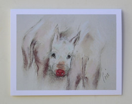 Pig Art Animal Note Cards Solomon - $12.50