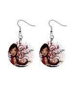 Girl Power Custom Mylar Button Earrings - $8.99