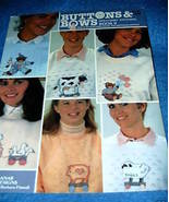 Banar Designs, Buttons & Bows Sweatshirt Stitching Book - $3.00
