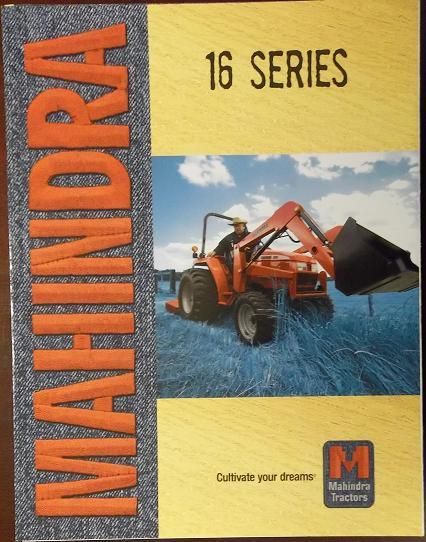 2008 Mahindra 1816, 2216, 2516, 2816, 3316 Tractors Color Brochure