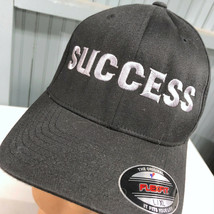 SUCCESS Flexfit Large / XL Black Baseball Cap Hat - $17.43