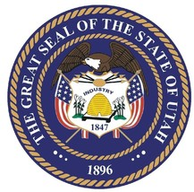 Utah State Seal Sticker MADE IN THE USA R561 - $1.45+