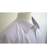 Jhane Barnes Men's Long Sleeve Slim Fit Button Down Dress Shirt size 17 ... - $16.82