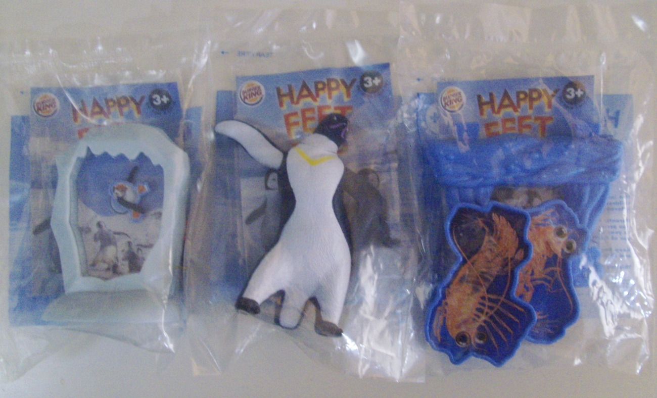 Toys For Feet : Happy feet two lot of burger king kid s and similar items
