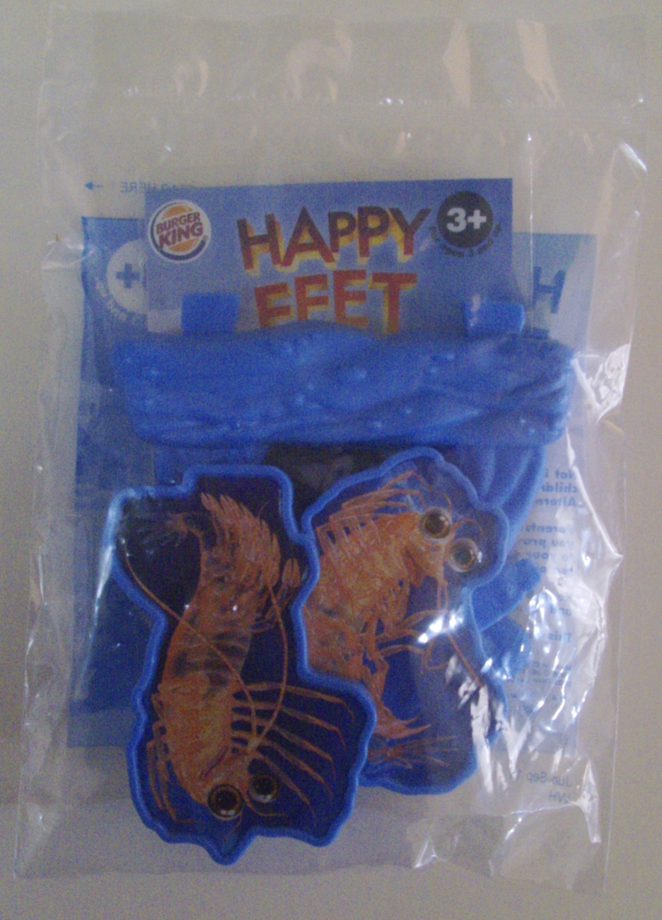 Happy Feet Two Lot of 3 Burger King Kid's Meal penguin toys - New
