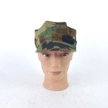 USMC Camo Military Utility CapType I Army Hat Mens Size Small Short Bill Fitted - $9.89