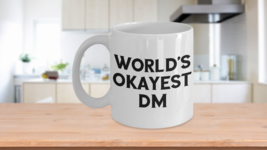 Worlds Okayest DM Mug Okest Dungeon Master DnD Christmas Birthday Gift C... - $19.50+
