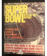 NFL Football 1971 Super Bowl Special Report Magazine - $9.90