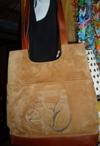 Vintage Fendi suede leather purse handbag tote Made in Italy - $1,200.00