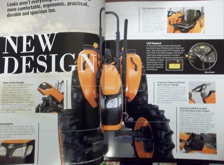 2008 Kubota M5040, M6040, M7040, M8540, M9540 Tractors Brochure