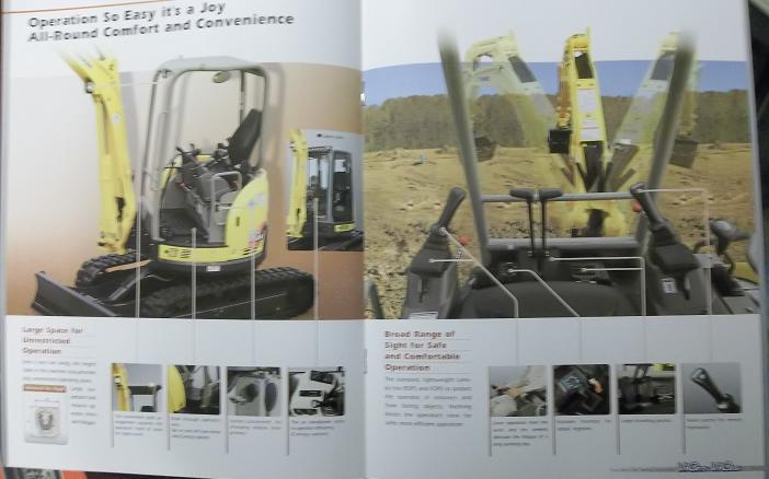 2009? Yanmar Vio27-5, Vio35-5 Mini Excavators Color Brochure