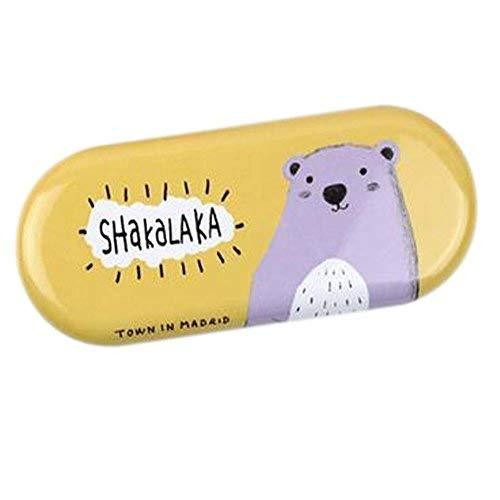 Primary image for Panda Superstore Lovely Glasses Case Sunglasses Decorative Cases Orange Hippo Ey