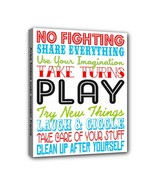 Childrens Play Rules Subway 8X10 Framed Art Canvas Print - $19.99