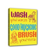 Good Hygiene Subway 8X10 Framed Art Canvas Print - $19.99