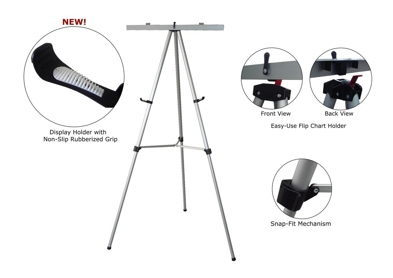 Presentation easel with selling point photos