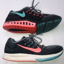 Nike Structure 18 Womens Running Shoes Sz 10 Grey Hyper Punch Black 683737-001 - $43.55