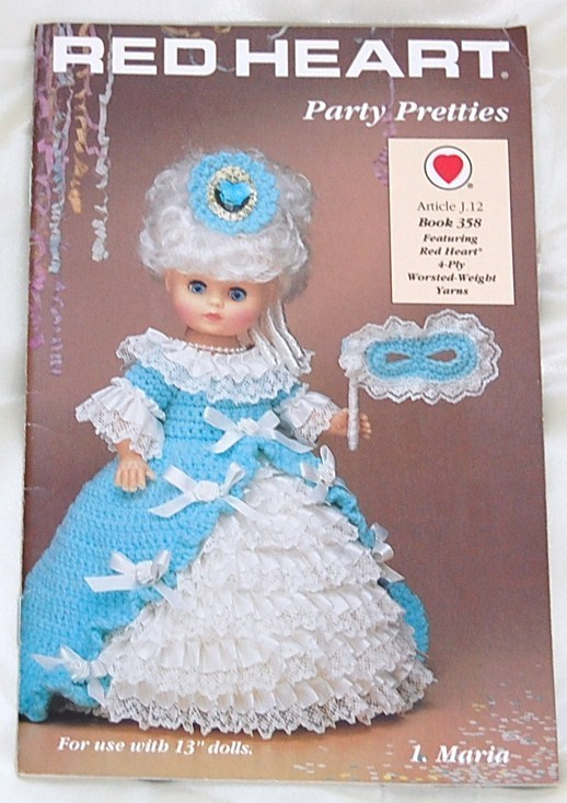 Red Heart Crochet Doll Pattern 1 Listing