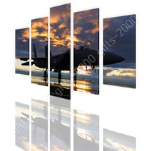 CANVAS (Rolled) Aircraft In The Sunset Split 5 Panels 5 Panels Paintings - $35.22+