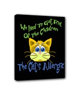 Cats Allergic 8X10 Framed Art Canvas Print - $19.99