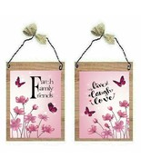 Pink Flower Pictures Faith Family Friends Live Laugh Love Wall Hangings ... - $7.99+