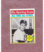 1976 Topps # 347 Ted Williams Sporting News All Time All Stars Nice Card - $4.59