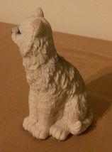 "White Grumpy Cat Figurine blue eyes Kitten animal pet statue 4"" Resin image 5"